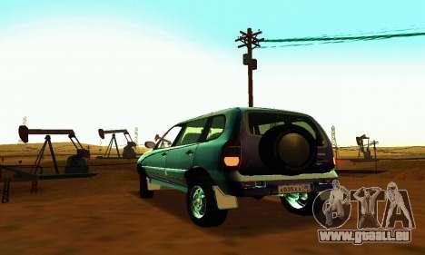 21236 Chevrolet Niva VAZ pour GTA San Andreas vue arrière