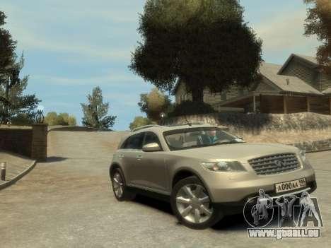 Infiniti FX45 2008 pour GTA 4