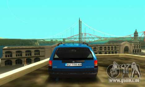 Opel Astra F Caravan pour GTA San Andreas vue intérieure