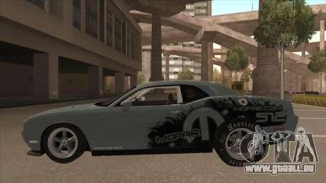Dodge Challenger Drag Pak für GTA San Andreas zurück linke Ansicht