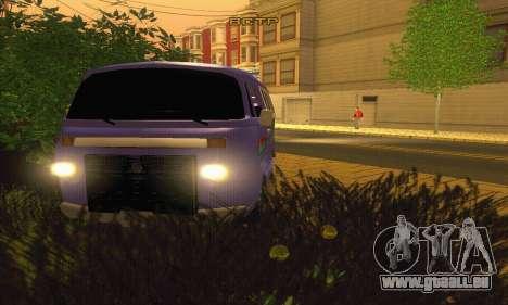 VW Kombi ESCOLAR pour GTA San Andreas vue arrière