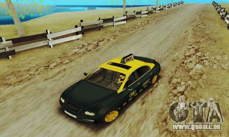 Mercenaries 2-Taxi für GTA San Andreas linke Ansicht