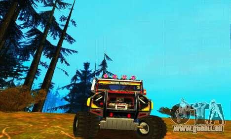 UAZ Hunter Trial pour GTA San Andreas laissé vue