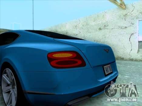 Bentley Continental GT Finale 2011 pour GTA San Andreas vue de côté