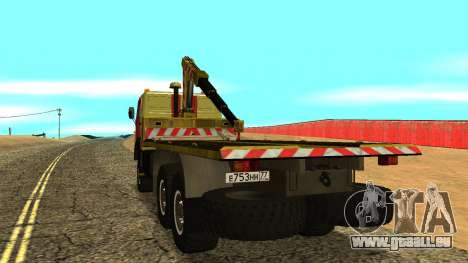 KAMAZ 43114 Abschleppwagen für GTA San Andreas rechten Ansicht