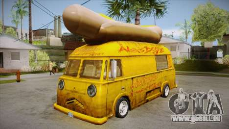 Hot Dog Van Custom pour GTA San Andreas
