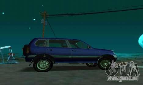 21236 Chevrolet Niva VAZ pour GTA San Andreas laissé vue