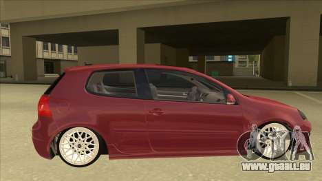 Volkswagen Golf V pour GTA San Andreas sur la vue arrière gauche