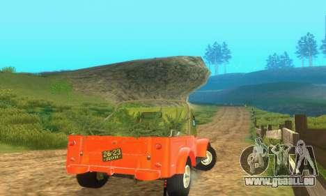 GAZ 69 Pickup pour GTA San Andreas vue arrière