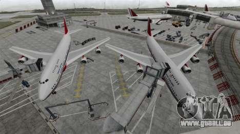 Das Flugzeug der Turkish Airlines für GTA 4 linke Ansicht
