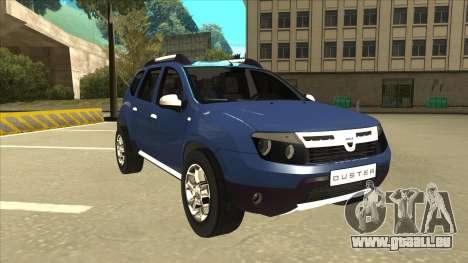 Dacia Duster 2014 pour GTA San Andreas laissé vue