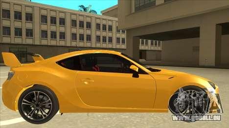 TOYOTA GT86 2JZ-GTE Black Revel für GTA San Andreas zurück linke Ansicht