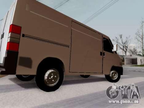 Fiat Ducato Cargo pour GTA San Andreas laissé vue