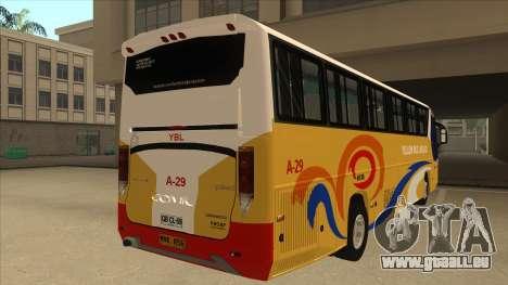 Yellow Bus Line A-29 für GTA San Andreas Rückansicht