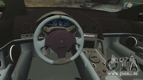 Lamborghini Reventon Roadster 2009 pour GTA 4 est un côté