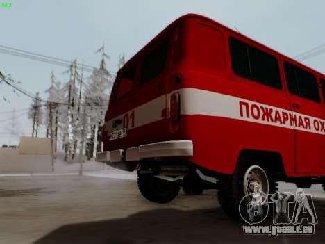 UAZ 452 Fire Staff Penza Russia pour GTA San Andreas vue arrière