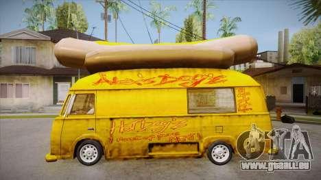 Hot Dog Van Custom pour GTA San Andreas laissé vue