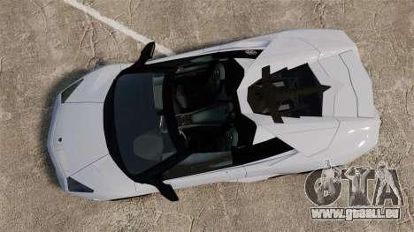 Lamborghini Reventon Roadster 2009 für GTA 4 rechte Ansicht