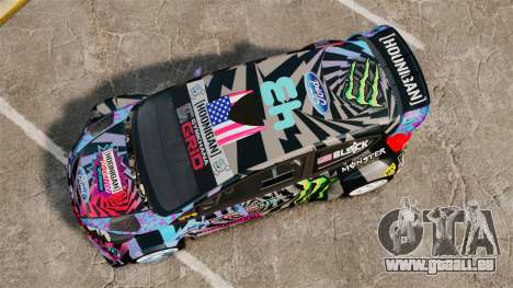 Ford Fiesta Gymkhana 6 Ken Block [Hoonigan] 2013 pour GTA 4 est un droit