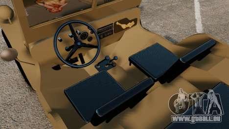 Willys MB pour GTA 4 est une vue de l'intérieur