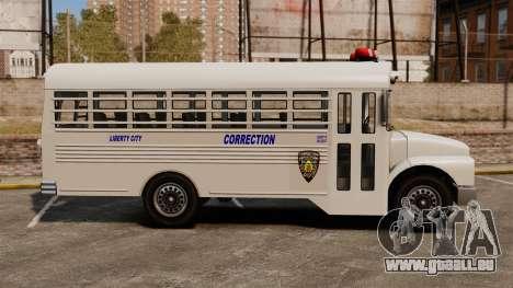 Der Gefängnis-Bus Liberty City für GTA 4 linke Ansicht