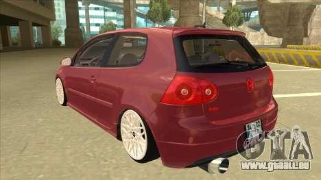 Volkswagen Golf V pour GTA San Andreas vue arrière