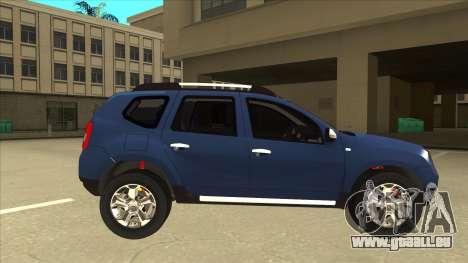 Dacia Duster 2014 pour GTA San Andreas sur la vue arrière gauche