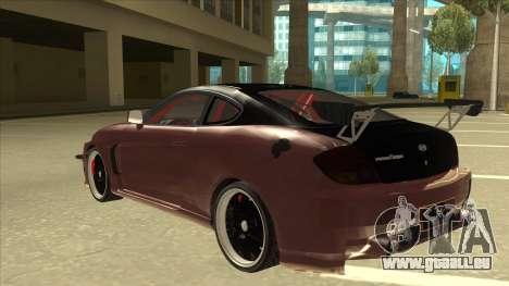 Hyundai Tiburon Coupe Tuning für GTA San Andreas Rückansicht
