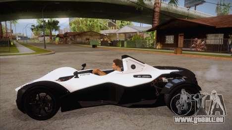 BAC Mono 2011 pour GTA San Andreas laissé vue