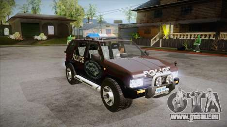 Nissan Terrano RB26DETT Police pour GTA San Andreas vue arrière