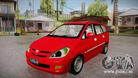 Toyota Kijang Innova 2.0 G v3.0 Steel Rims pour GTA San Andreas