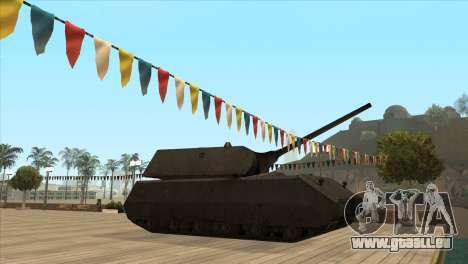 Panzerkampfwagen VIII Maus pour GTA San Andreas deuxième écran