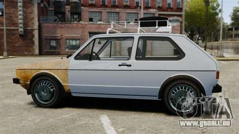Volkswagen Golf MK1 GTI Rat Style pour GTA 4 est une gauche