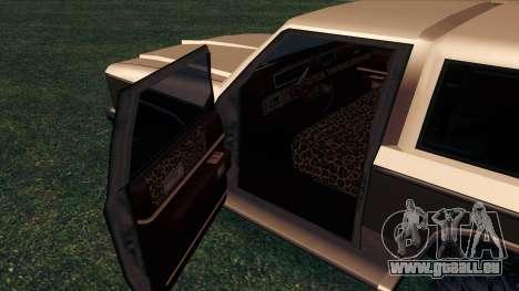 Rancher Bronco pour GTA San Andreas vue de dessous