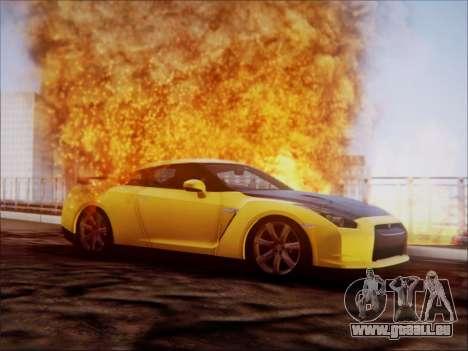 Nissan GT-R R35 Spec V 2010 pour GTA San Andreas vue arrière