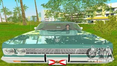 Plymouth Fury III 1969 Coupe pour GTA Vice City