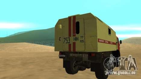 Feux de détresse KAMAZ 4310 pour GTA San Andreas sur la vue arrière gauche