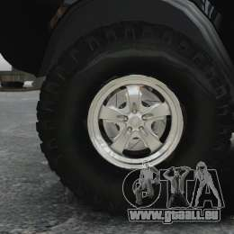 GAZ 2402-4 x 4 Pickup-truck für GTA 4 Rückansicht
