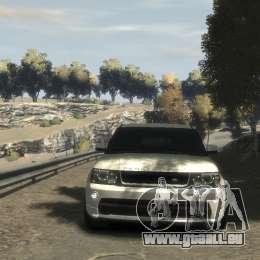 Range Rover Sport 2013 pour GTA 4 Vue arrière de la gauche