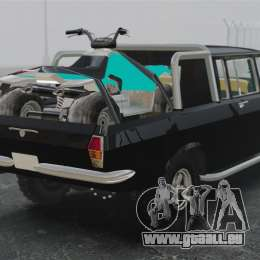 GAZ 2402-4 x 4 pick-up pour GTA 4 Vue arrière de la gauche