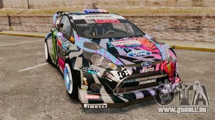 Ford Fiesta Gymkhana 6 Ken Block [Hoonigan] 2013 pour GTA 4