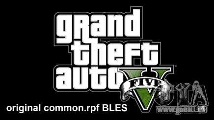 Original common.rpf BLES pour GTA 5