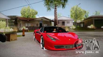 Ferrari 458 Italia Novitec Rosso 2012 v2.0 für GTA San Andreas