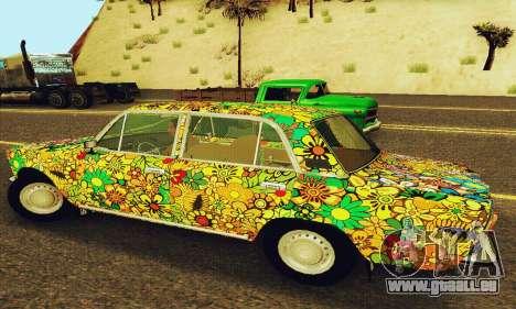 VAZ 21011 Hippie pour GTA San Andreas vue arrière