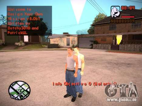 Nouveau menu et une nouvelle police pour GTA San Andreas huitième écran