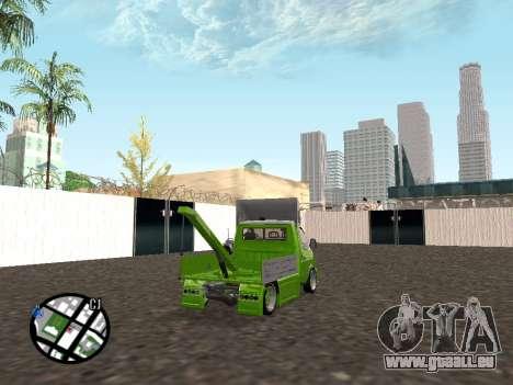 Gazelle dépanneuse pour GTA San Andreas sur la vue arrière gauche