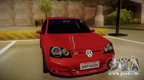 VW Golf GTI 2008 pour GTA San Andreas laissé vue