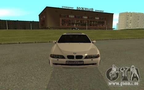 BMW 540i pour GTA San Andreas vue de droite