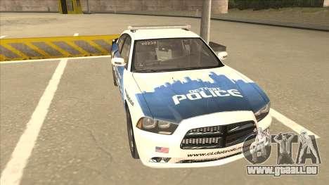 Dodge Charger Detroit Police 2013 pour GTA San Andreas laissé vue