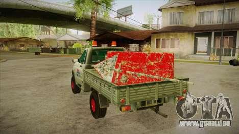 UAZ 2360 Reparatur Wasser SA für GTA San Andreas zurück linke Ansicht